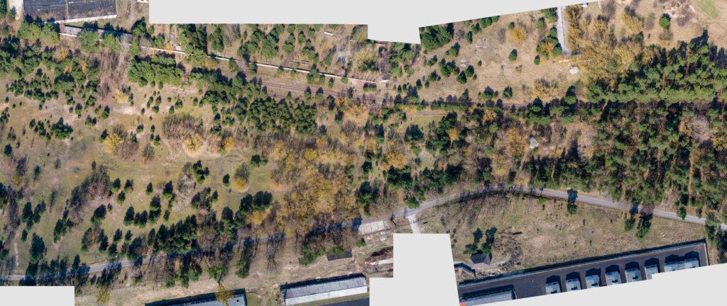 Luftbild vom Gelände des ehemaligen Nachschubsammellagers. Foto: Christoph Löffler, Berlin