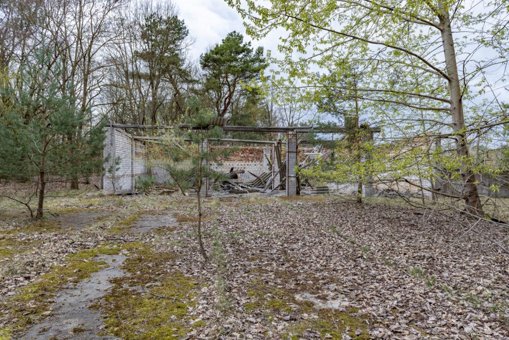 Reste von sowjetischen Garagen auf dem Gelände der ehemaligen DAW-Tischlerei Ravensbrück. Foto: Christoph Löffler, Berlin