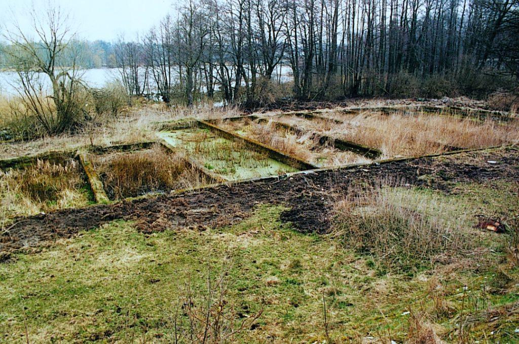 Die Faulschlammbeete der ehemaligen Kläranlage im Jahr 1994. Foto: Heinz Heuschkel (MGR/SBG, Foto-Nr. 96/1713)